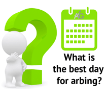 What is the best day for arbing?