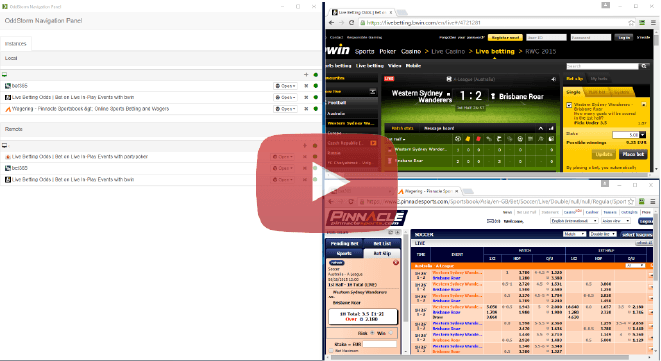 sports arbitrage betting navigation / surebet navigation
